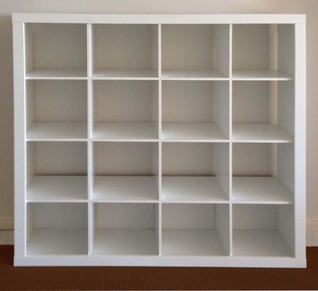 Ikea expedit 4x4 cube with 9 lekman boxes oak bay victoria - Etagere cube ikea expedit ...