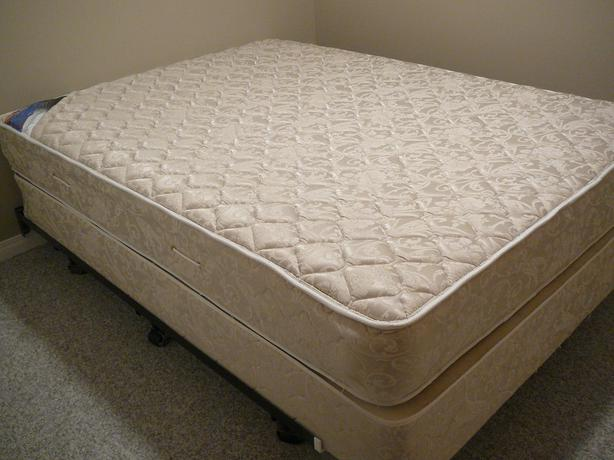 Queen Sized Bed Mattress Boxspring And Frame Saanich