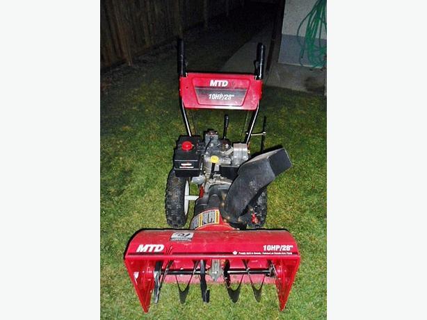 mtd yard machine snowblower manual