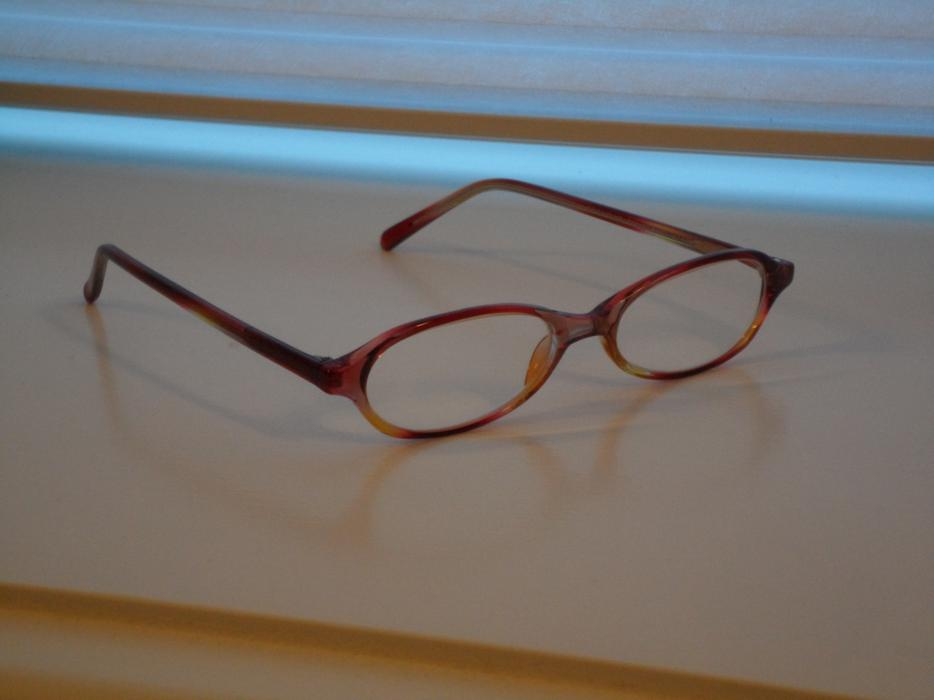 Eyeglass Frames - Reddish Amber Colours West Shore ...