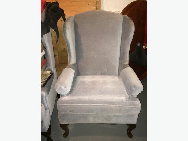 blue sitting chairs saanich victoria