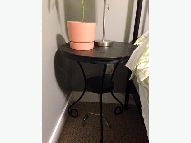 2 ikea noresund metal side tables in black west shore langford colwood metchosin highlands. Black Bedroom Furniture Sets. Home Design Ideas