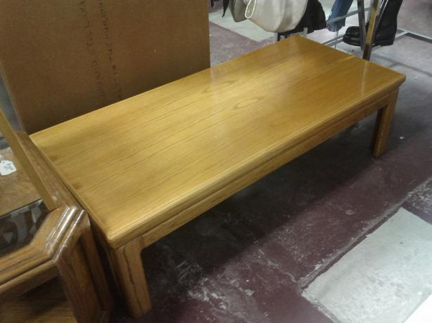 Wood coffee table outside nanaimo parksville qualicum beach for Coffee tables 24 high