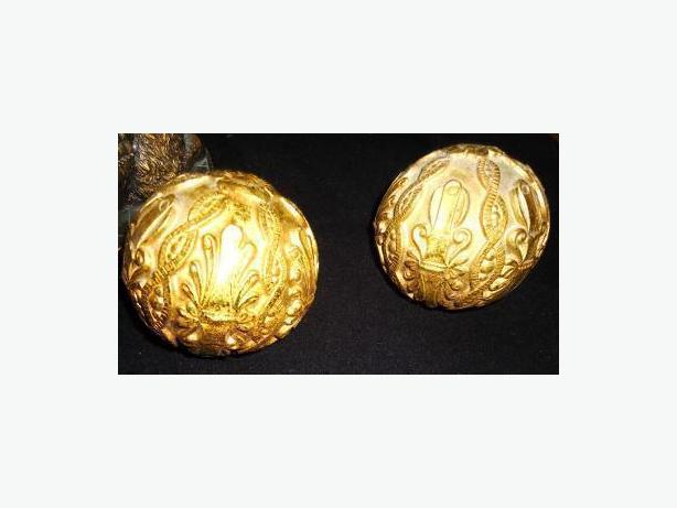 Bombay Company - Ornate Golden Deco Balls (Matching Pair)