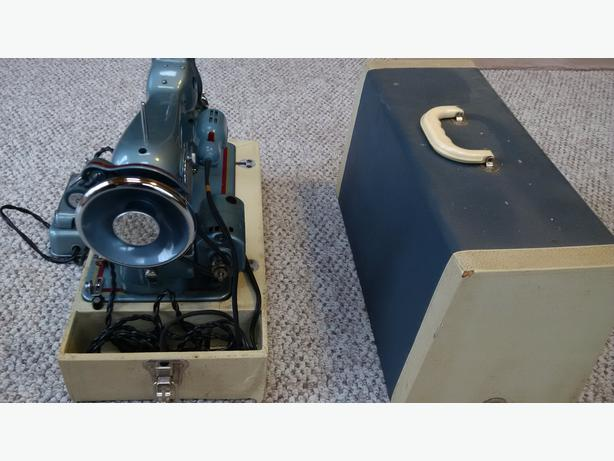 Vintage Beacon Sewing Machine with case cover