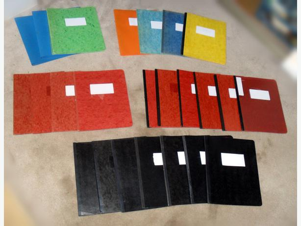 2 Sets of Binders for Filing Letter Size (8.5x11 in.) Papers