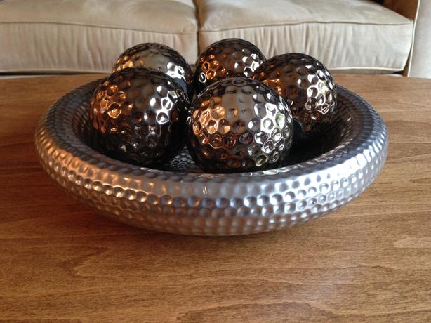 Decorative Coffee Table Bowl amp Spheres East Regina Regina