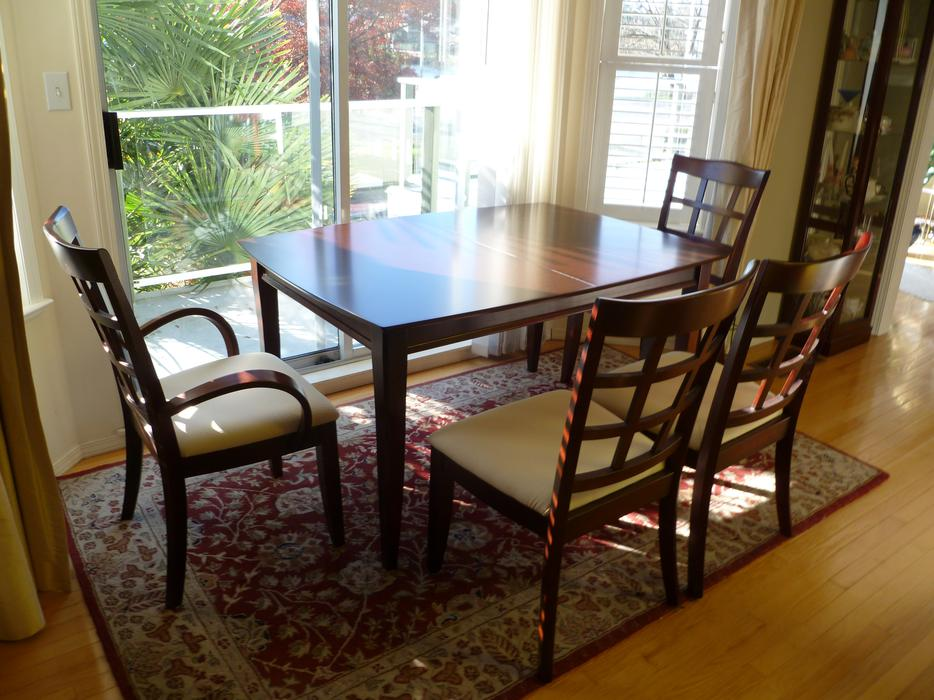 Cherrywood dining room table with 6 chairs saanich victoria for Dining room tables kelowna