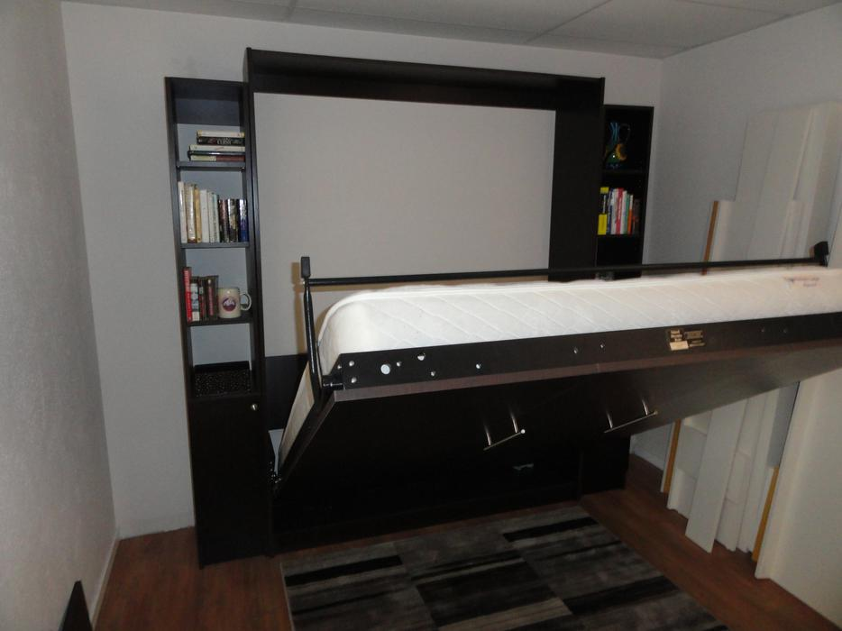 Murphy Beds Langford : Stained murphy bed plywood core plus side units wow