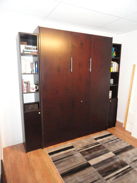 Murphy Beds Gatineau : Stained murphy bed plywood core plus side units wow