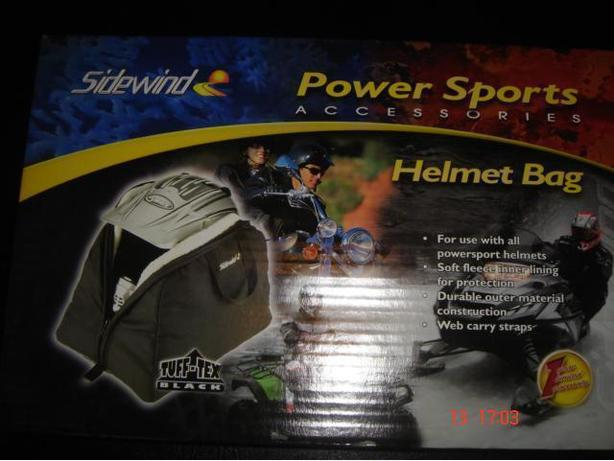 """NEW"" Fleese Lined Helmet Bag"