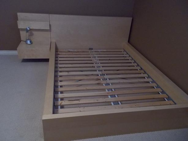 Ikea bed frame night stand east regina regina - Ikea bed frame with attached nightstand ...