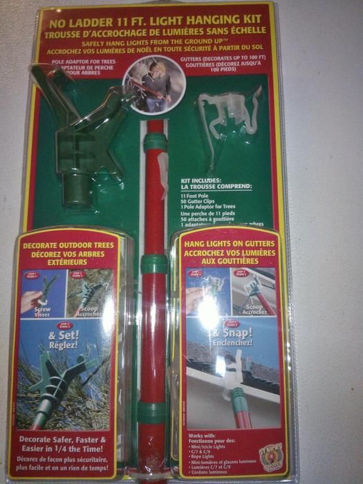 christmas light hanging kit
