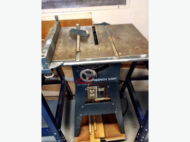 7 1 4 Table Saw On Casters Oak Bay Victoria