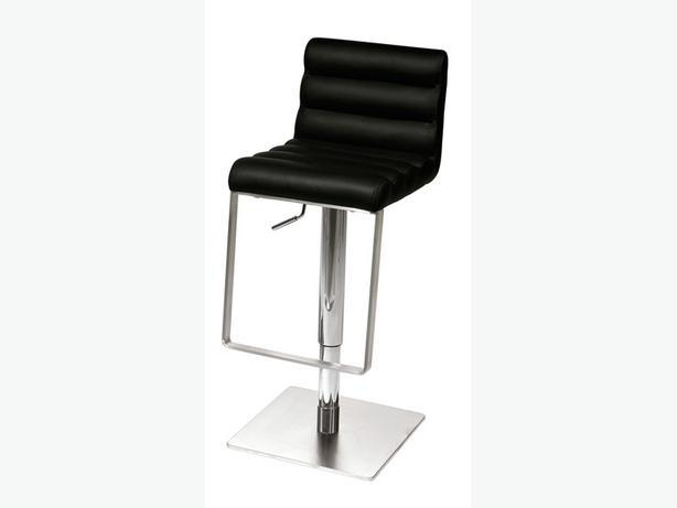 ea 2 Modern Black chrome Bar stools Victoria City Victoria : 43157973614 from www.usedvictoria.com size 614 x 461 jpeg 11kB