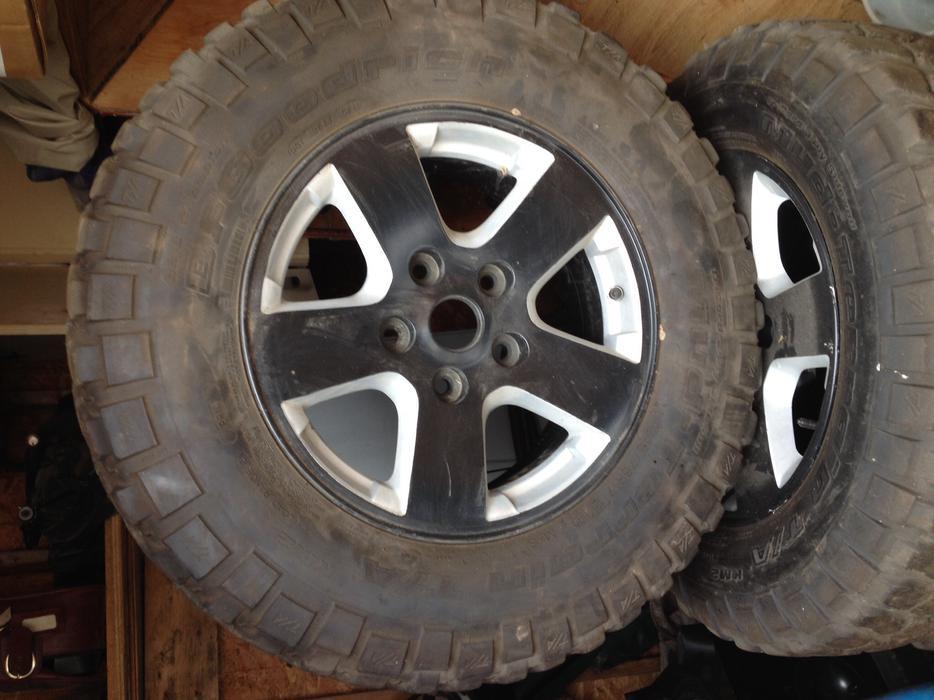 "Used Tires Oshawa >> 4 245/75 r17 BF Goodrich mud terrain tires on 17"" dodge ..."