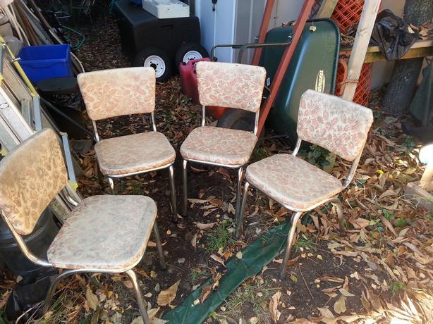 Retro Vinyl Chairs Set of Retro Vinyl Chairs