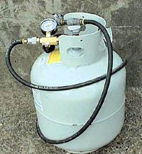 how to tell when propane tank is empty