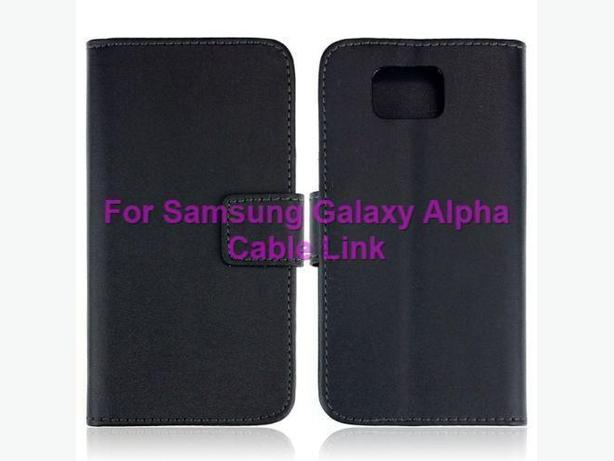 Luxury Wallet Leather Case for Samsung Alpha G850F