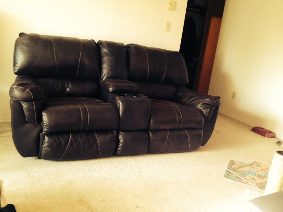 Double Leather Recliners 107