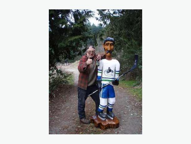 Carved 6ft. Vancouver Canuck