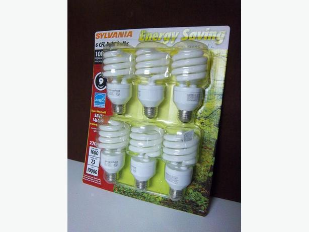 """Sylvania"" Evergy Saving light bulbs"
