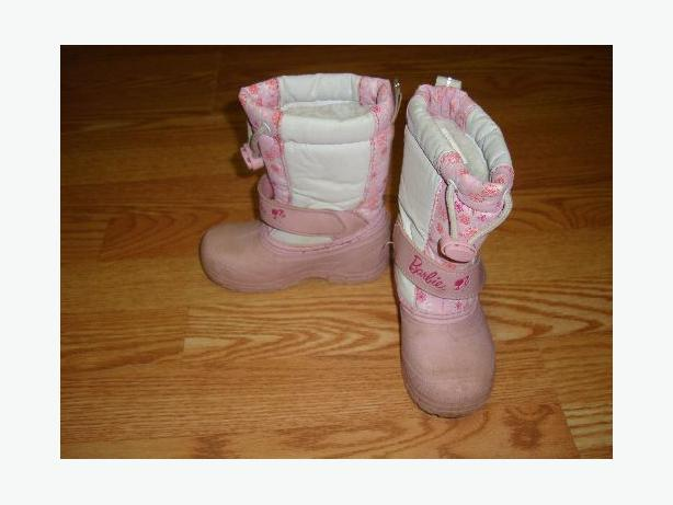 Winter Boots Pink Size 8 Toddler Barbie - Excellent Condition!
