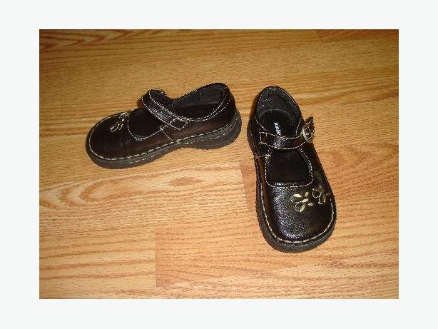 Black Dress Shoes Size 8 Toddler Kindergear - Excellent Condition!