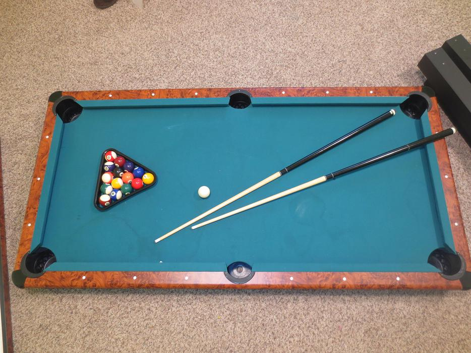 Air hockey table pool table 6ft x 3ft 2in1 gamecraft for Pool table 6 x 3