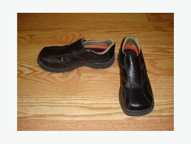 Like New Shoes Dress Loafers Black Leather Size 1 Buster Brown! $8