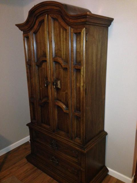 Solid wood armoire west shore langford colwood metchosin