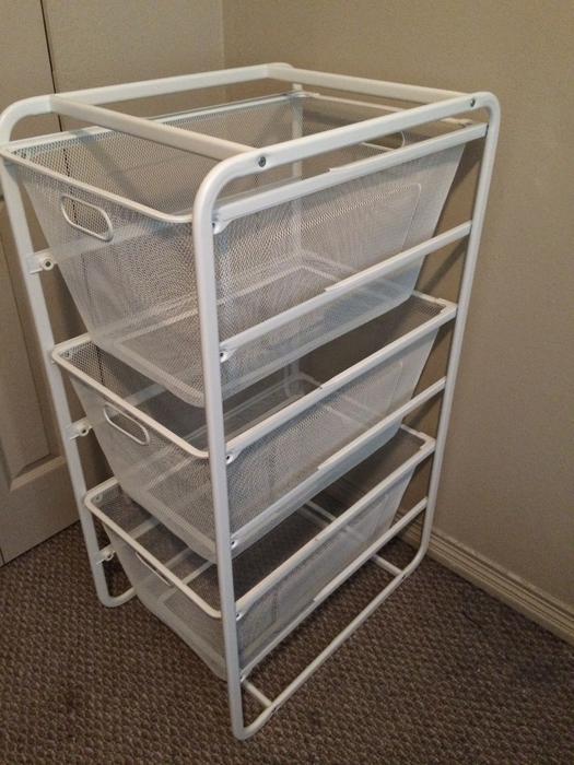 Sold ikea algot basket drawer closet storage unit for Ikea basket drawers