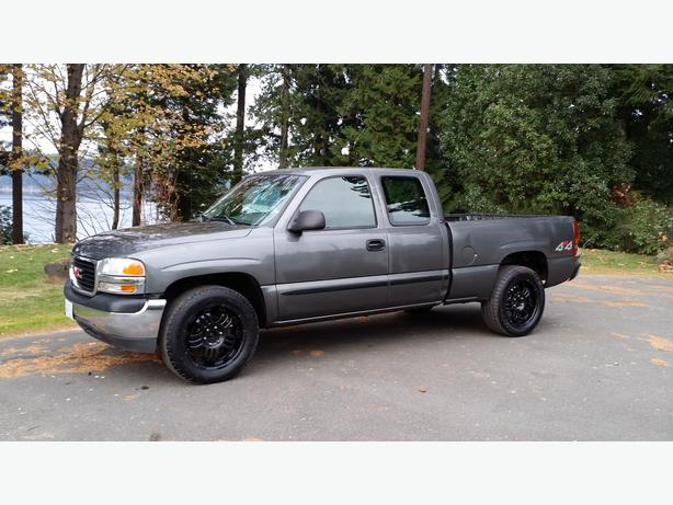 fully inspected 2001 gmc sierra sl 1500 4x4 rear doors short box north nanaimo nanaimo. Black Bedroom Furniture Sets. Home Design Ideas