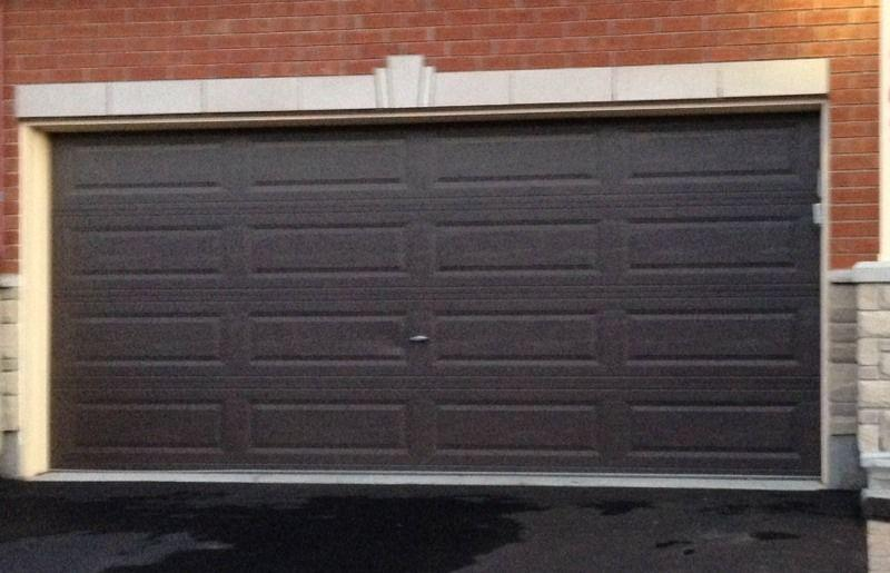 16x7 non insulated dark brown garage door obo kanata for 16x7 garage door prices