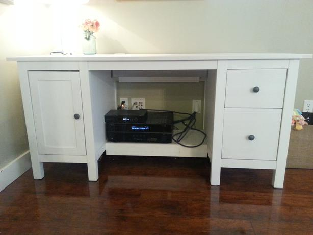 White Ikea Hemnes Desk West Shore Langford,Colwood,Metchosin,Highlands, Victoria