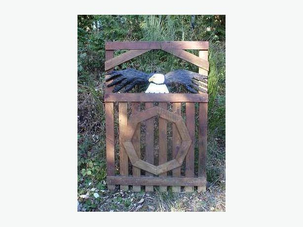 Carvings for fences, gates, sheds etc.