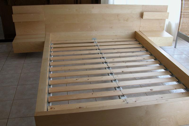 ikea malm queen bed in birch complete set free mattress hull sector quebec gatineau - Malm Bed Frame Low