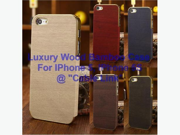Wood Bamboo Hybrid Bumper Back Case For Apple iPhone 5 5S+Free