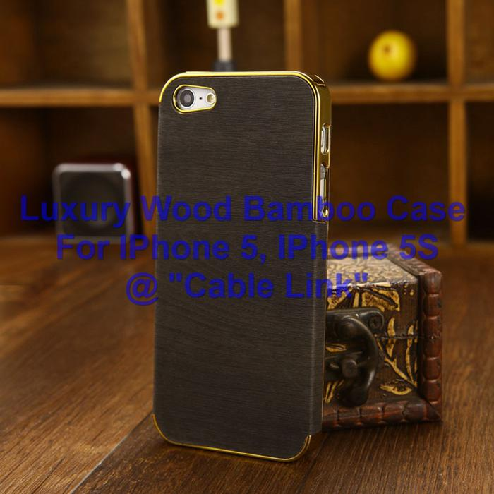 case for iphone wood bamboo hybrid bumper back for apple iphone 5 5s 3083
