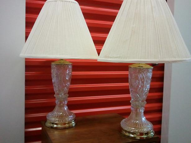 Crystal pinwheel motif table lamps east york toronto crystal pinwheel motif table lamps mozeypictures Image collections