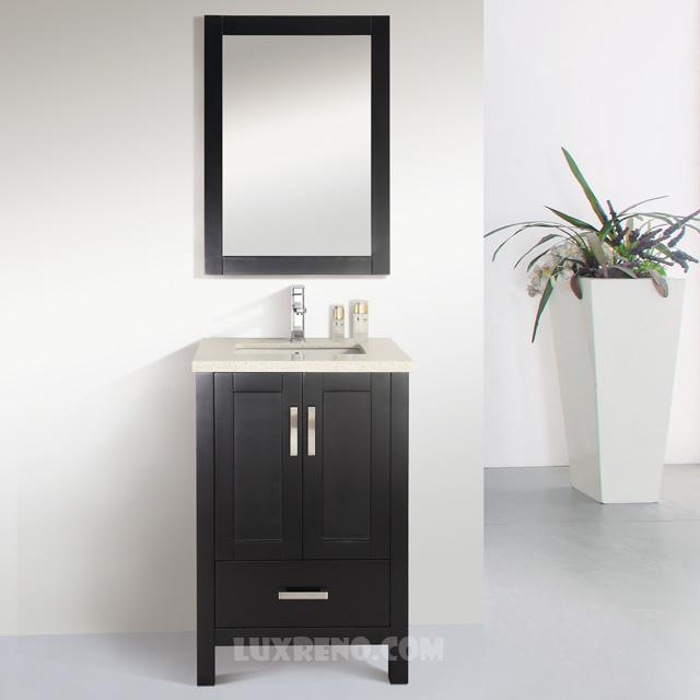 "Winnipeg Bathroom Vanities: 24"" Solid Wood Bathroom Vanity With Mirror And Faucet"