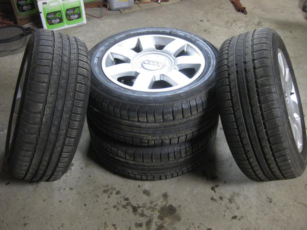 [4] - 235/55/17 - Continental ContiWinter Tires on OEM Audi Rims