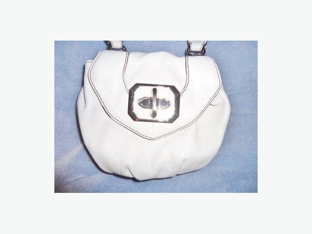 orYANY Winter White Leather Satchel Bag (Like New)