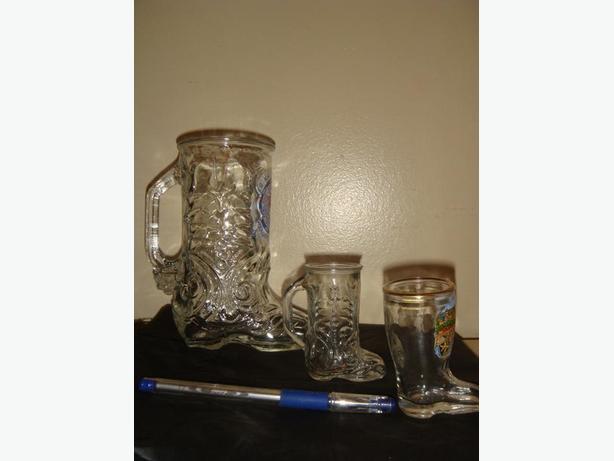 Cowboy Boot Bar Drinking Glasses