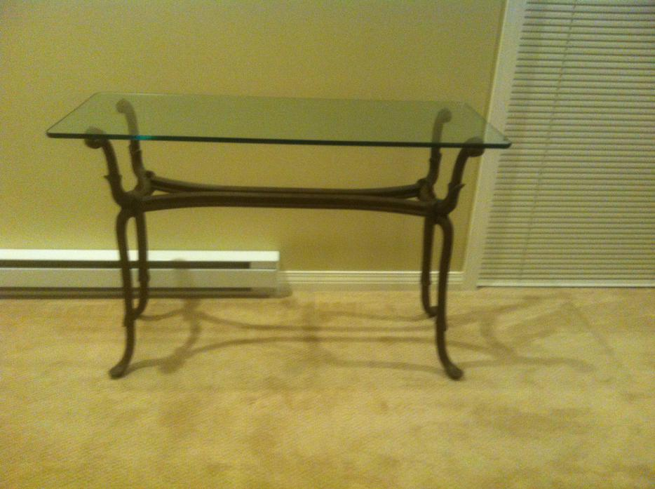 Glass Top Metal Bombay Sofa Table Central Saanich Victoria
