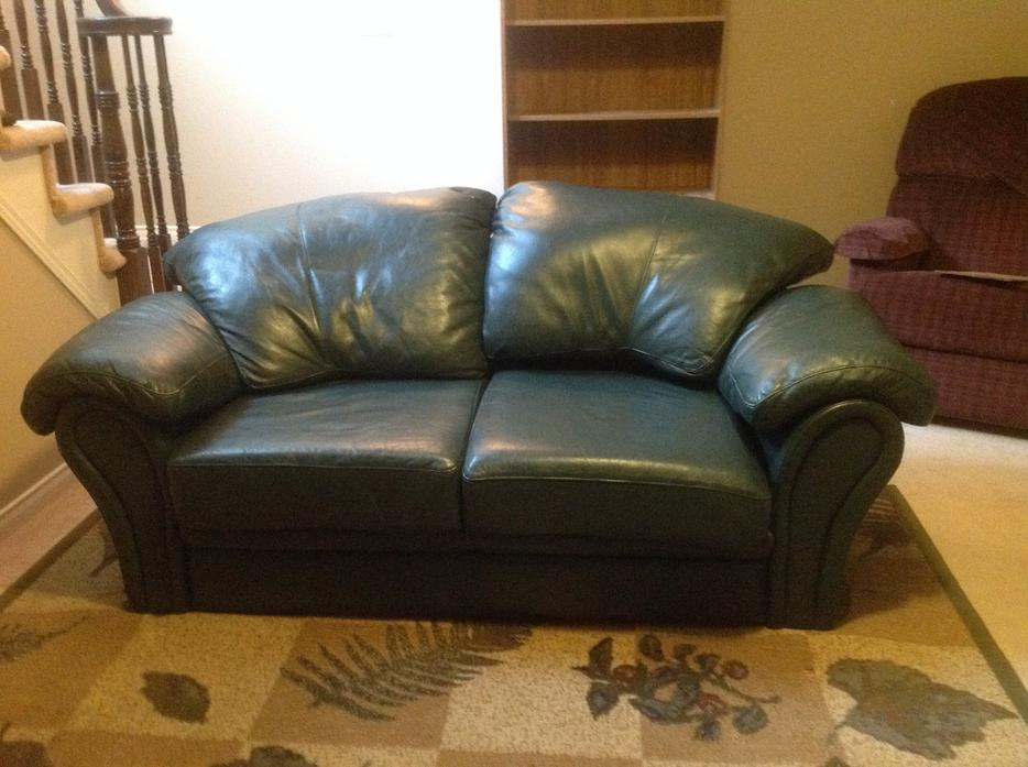 Leather Sofa Loveseat Hunter Green Nepean Ottawa