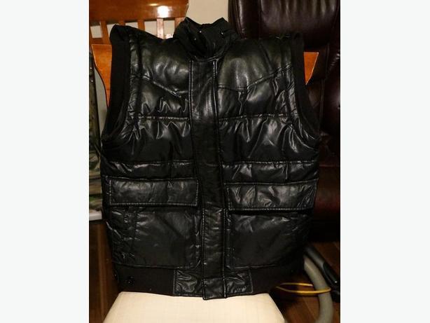 Warm Lined Imitation Leather Sleeveless Vest