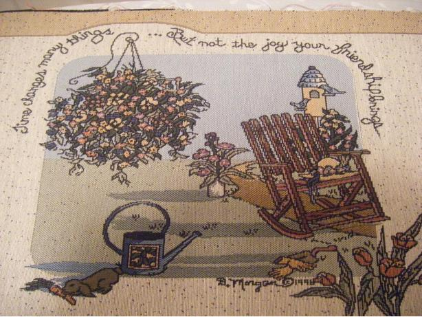 Friendship Tapestry for Pillow or Wall Hanging
