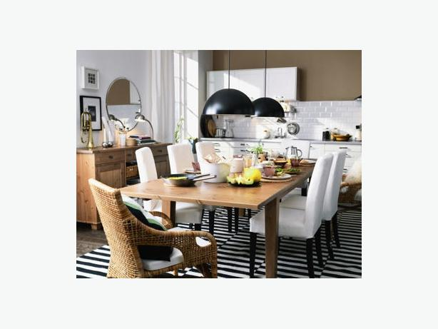 ikea stornas extendable dining table solid pine brand new still in box victoria city victoria. Black Bedroom Furniture Sets. Home Design Ideas