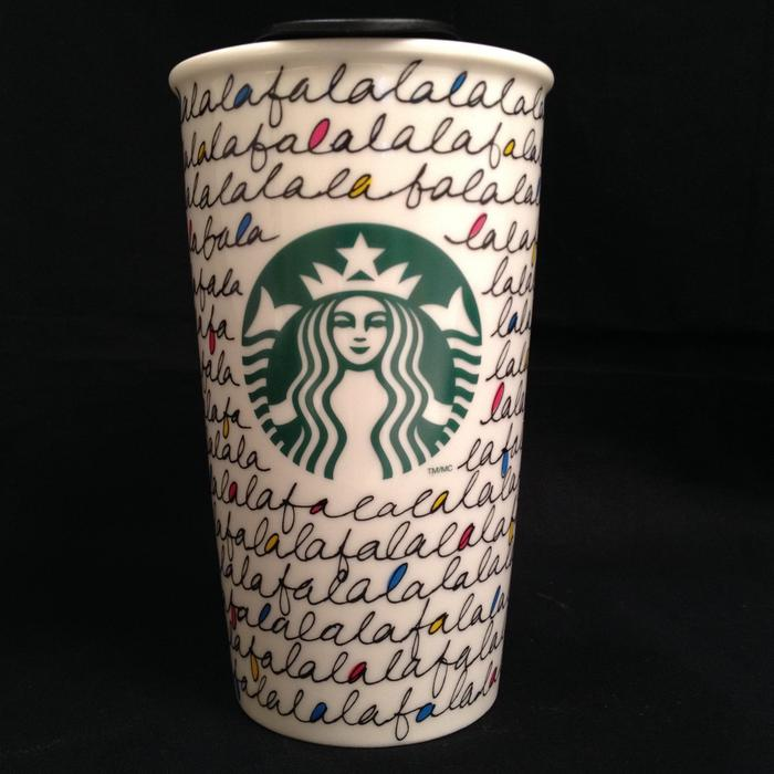 Starbucks Holiday 2011 Ceramic Falalala Coffee Mug 12 Oz